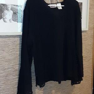 Bill Blass crochet'd blouse